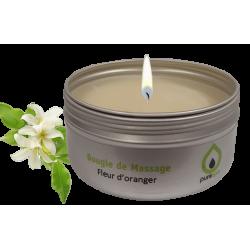 Bougie de massage fleur d'oranger, cire 100% végétale