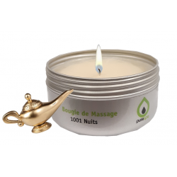 Bougie de massage 1001 Nuits, 100% végétale