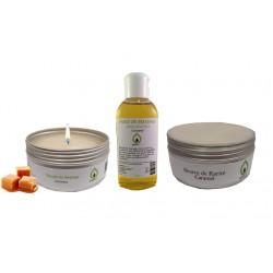 Kit coffret cadeau massage sensuel Caramel