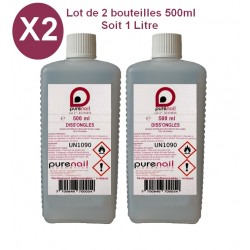 DUO DISS'ONGLES Pure Acétone  2 x 500 ML