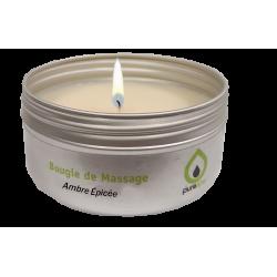 Bougie de massage sensuelle AMBRE ÉPICÉ