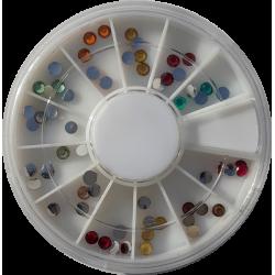 Carousel Multicolore Grand Rond - NAil Art