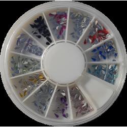 Carousel Multicolore Goutte d'eau - NAil Art
