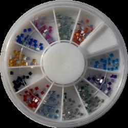 Carousel Multicolore Carré - NAil Art