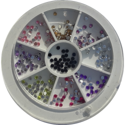 Carrousel Multicolore Rond - GEM Luxury Style NAil Art