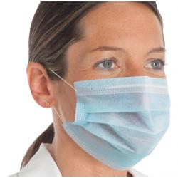 50 Masques de protection individuelle, Hygiène et sécurité, 3 plis Disponible, Stock et livraison de France