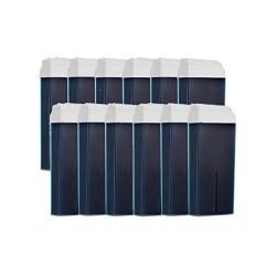 12 Cartouches de cire à épiler BLEU AZULENE, Cartouche de 100 ml, épilation avec bande,PUREWAX By Purenail