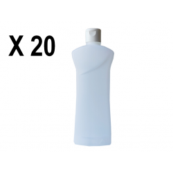 Lot de 20 Flacons transparent vide de 1000 ml, avec capsule réductrice, spécial huile de massage, soin du corps et soin visage