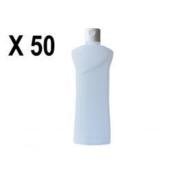 Lot de 50 Flacons transparent vide de 1000 ml, avec capsule réductrice, spécial huile de massage, soin du corps et soin visage