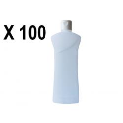 Lot de 100 Flacons transparent vide de 1000 ml, avec capsule réductrice, spécial huile de massage, soin du corps et soin visage