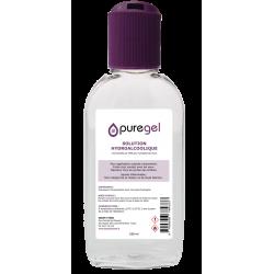 Gel Hydroalcoolique 100ml, lotion désinfectante Puregel  avec bouchon reducteur Disck Top.