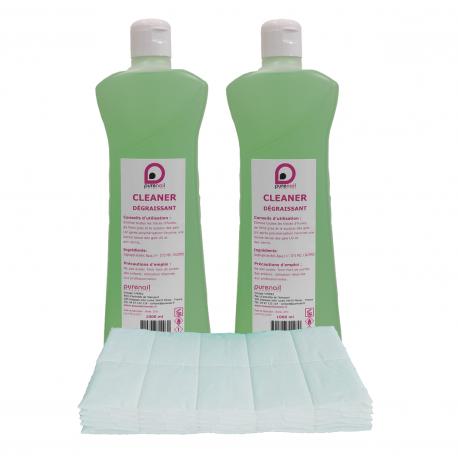 2 Cleaner Dégraissant 2X1L + 100 carrés de cellulose OFFERT