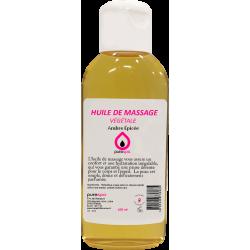 Huile de massage 100% végétale parfumée à l'Ambre Épicé