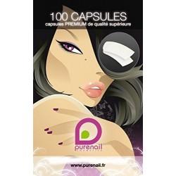 Boites de 100 capsules FAUX ONGLES