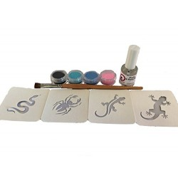 Kit Tatouages temporaires Collection WILD Pochoirs