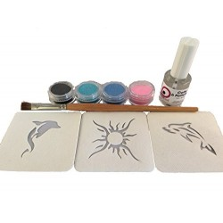 Kit Tatouages temporaires Collection SUN Pochoirs
